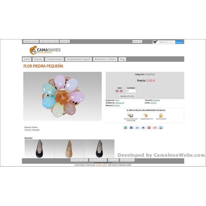 Pàgina piedra-pequeña_complementos: camashoes-com - projecte web de Camaleon Webs