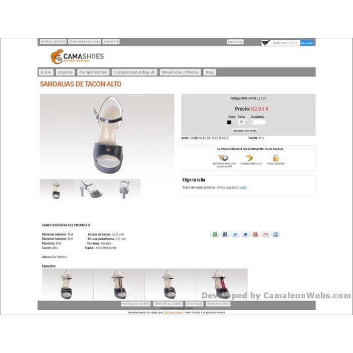 Pàgina sandalias-de-tacon-alto_zapatos: camashoes-com - projecte web de Camaleon Webs