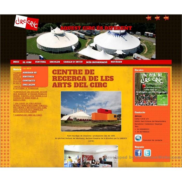 Pàgina el-circ_la-seu: circcric-cat - projecte web de Camaleon Webs