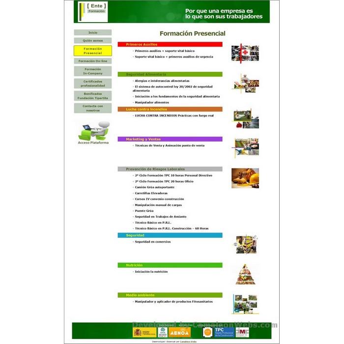 Pàgina formacion-presencial: enteformacio-com - projecte web de Camaleon Webs