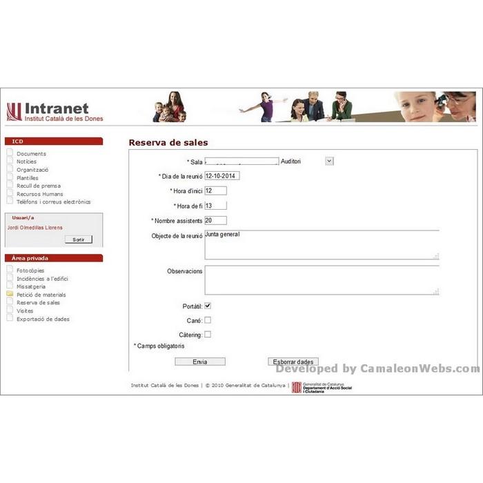 Pàgina reserva-sales-detall: icd - projecte web de Camaleon Webs