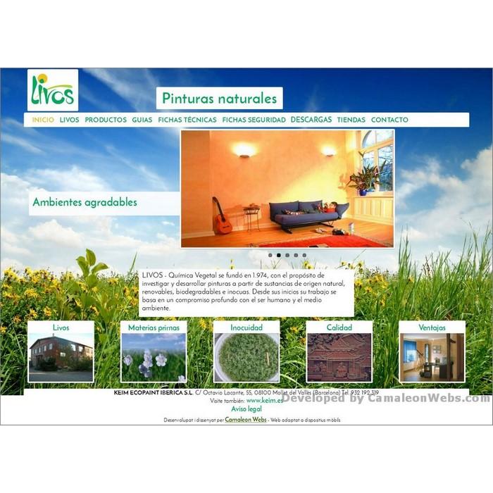 Pàgina inicio: livos-es - projecte web de Camaleon Webs