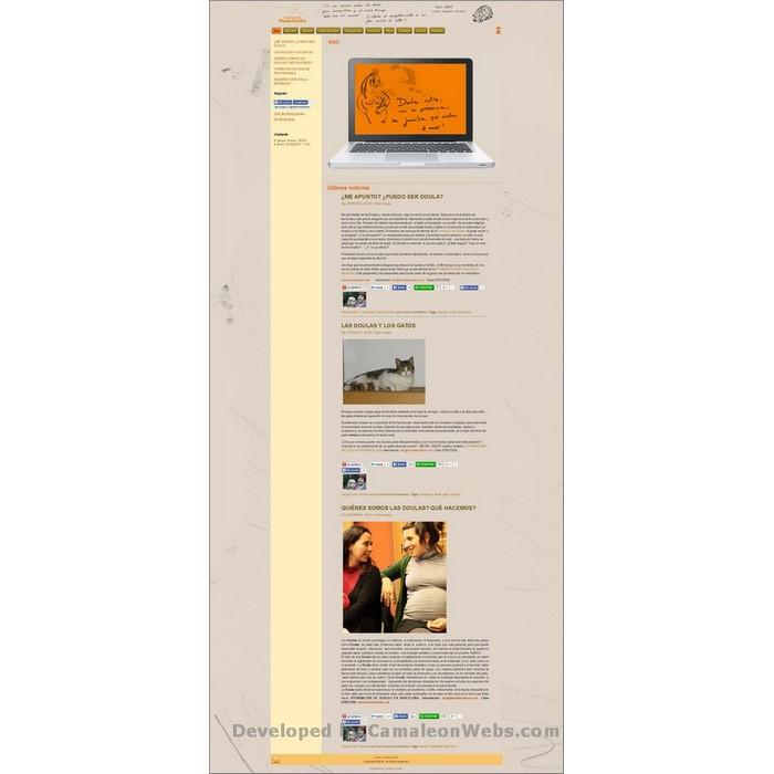 Pàgina inici: maresdoules-cat - projecte web de Camaleon Webs