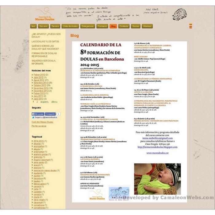 Pàgina noticies: maresdoules-cat - projecte web de Camaleon Webs