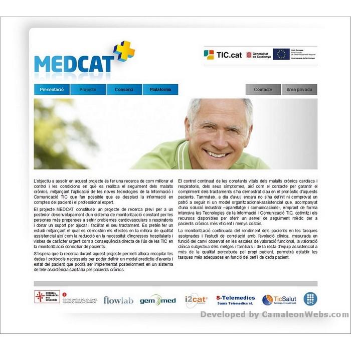 Pàgina inici: medcat - projecte web de Camaleon Webs