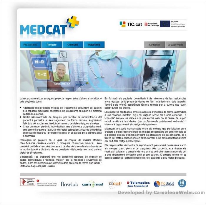Pàgina projecte: medcat - projecte web de Camaleon Webs