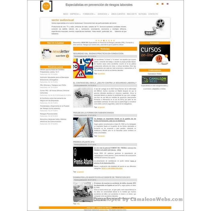 Pàgina inicio: risk21-com - projecte web de Camaleon Webs