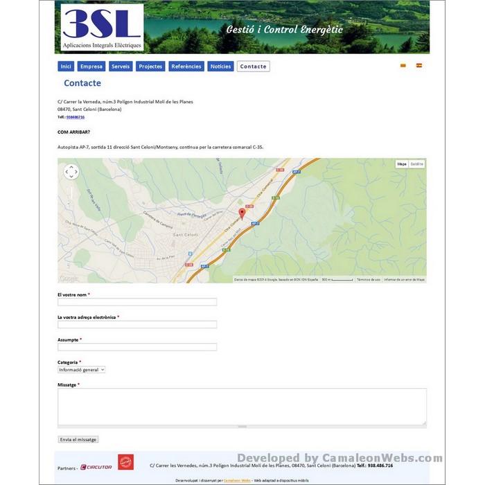Pàgina contacte: tressl-es - projecte web de Camaleon Webs