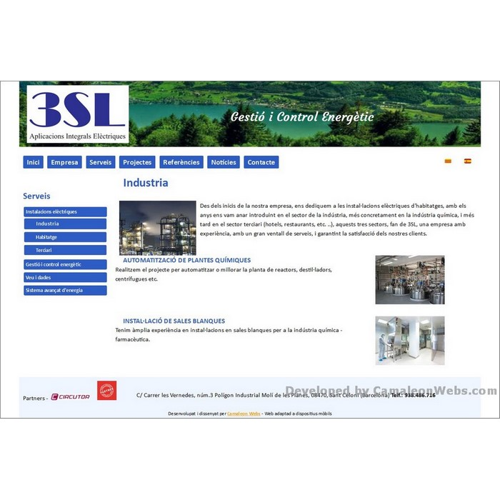 Pàgina serveis: tressl-es - projecte web de Camaleon Webs
