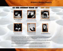 Pàgina inici: ariadnaalonso-com - projecte web de Camaleon Webs